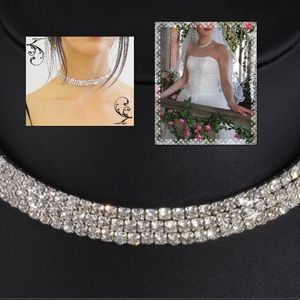3 Rows Crystal Chocker / Necklace